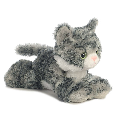 Lily Grey Tabby Cat - 8 Inch