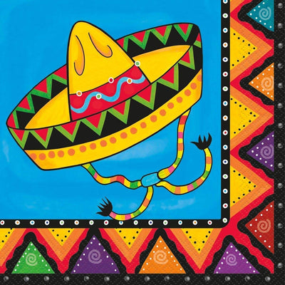 New Mexican Fiesta Lunch Napkins -Pack of 20