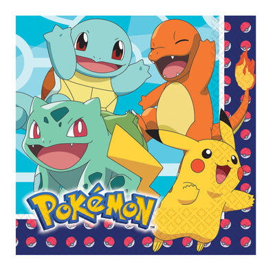 Pokemon Kids Birthday Party Napkins Pack of 16