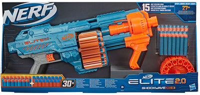 WHOLESALE NERF ELITE 2.0 SHOCKWAVE RD 15 - PACK OF 3