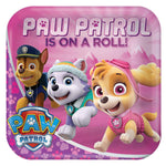 Paw Patrol Pink Kids Party Paper Plate-Pack of 8