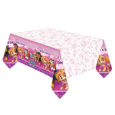 Paw Patrol Pink Kids Party Plastic Table Cover-Pack of 1
