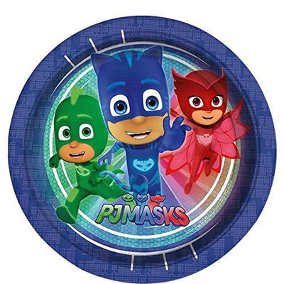 PJ Masks Birthday Party Paper Plate - Pack of 8