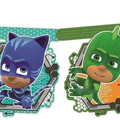 PJ Masks Cardboard Banner Features Catboy, Gekko and Owlette