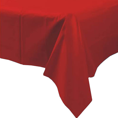 Plastic Disposable Party Tablecloth, Red