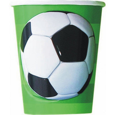 Football Themed Kids Birthday Party Paper Cup (266ml) - Pack of 8