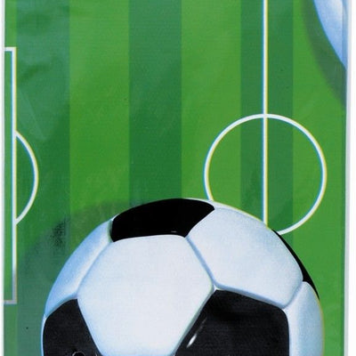Football Themed Party Plastic Table Cover 1.2m x 1.8m - 1 Piece