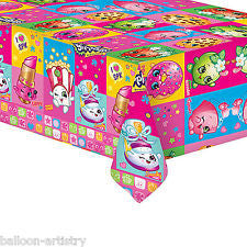 Shopkins Plastic Wipeable Party Tablecover
