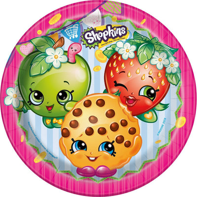 Shopkins Deluxe Birthday Party Paper Plates 8pk