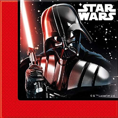 Stars Wars Last Jedi Villians Kids Party Paper Napkins-Pack of 20