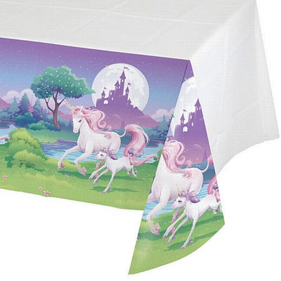 Unicorn Fantasy Boys Girls Birthday Party Plastic Tablecover138cm x 183cm- 1Pack