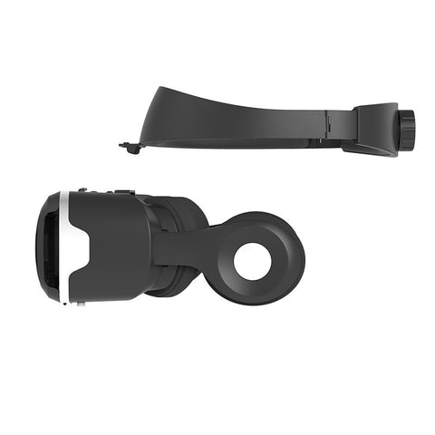 Virtual reality headset focus side view