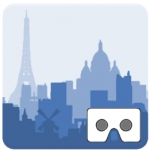 Cities vr application for vr headset