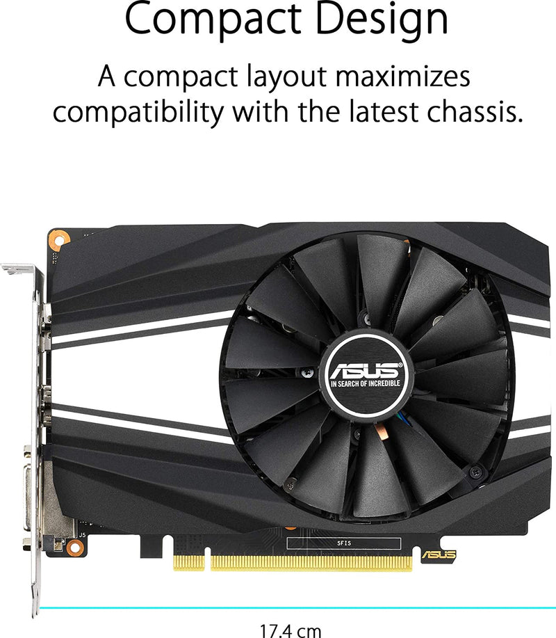 ASUS GeForce GTX 1650 Super Overclocked 4GB Graphics Card PH-GTX1650S-O4G
