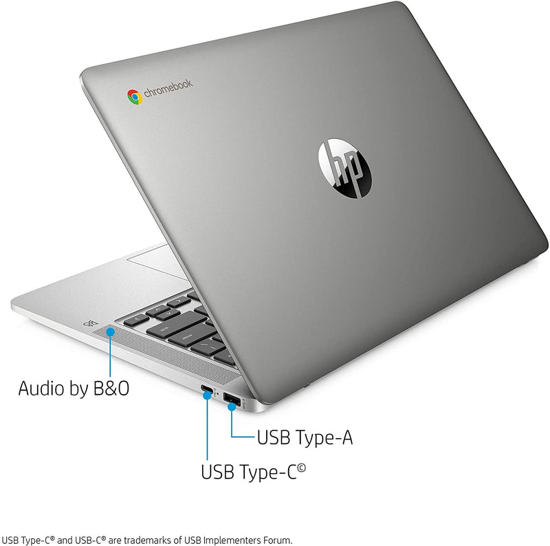 "HP Chromebook 14""HD Touch N4000 4 32 GB eMMC Forest Teal 14a-na0080nr"