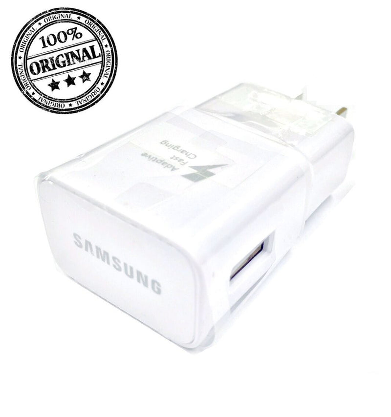 GENUINE Samsung Fast Charger EP-TA20JWE Adapter and USB Type C Cable White Set