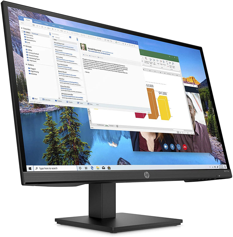 "HP M27ha 27""FHD Monitor IPS Panel and Built-in Audio - 22H94AA"