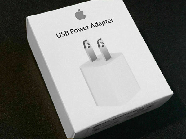Genuine Authentic Apple USB Power Adapter Charger Wall Plug for iPhone MD810LL/A