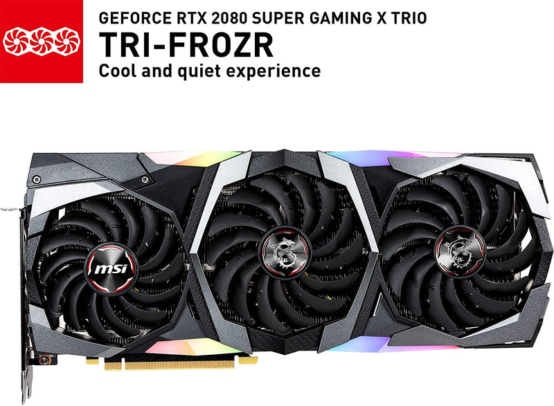 MSI Gaming GeForce RTX 2080 Super 8GB Tri-Frozr RTX-2080-Super-Gaming-X-Trio