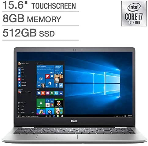 "DELL INSPIRON 5593 15.6"" FHD TOUCH I7-1065G7 8 512GB SSD i5593-7988SLV-PUS"