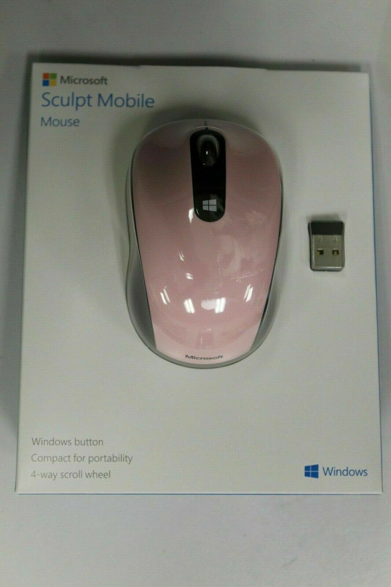Microsoft 43U-00017 Sculpt Mobile Mouse Light Orchard Pink New Sealed
