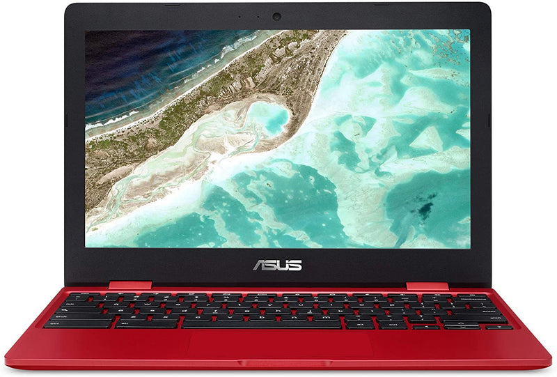 "Asus Chromebook C223 Laptop 11.6""HD N3350 4 32GB eMMC Red C223NA-DH02-RD"