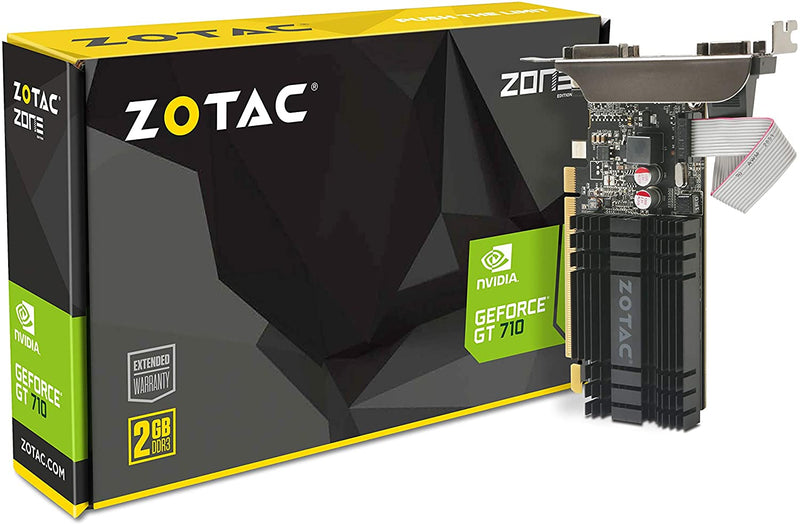 ZOTAC GeForce GT 710 2GB DDR3 PCI-E2.0 ZT-71302-20L Graphics Card