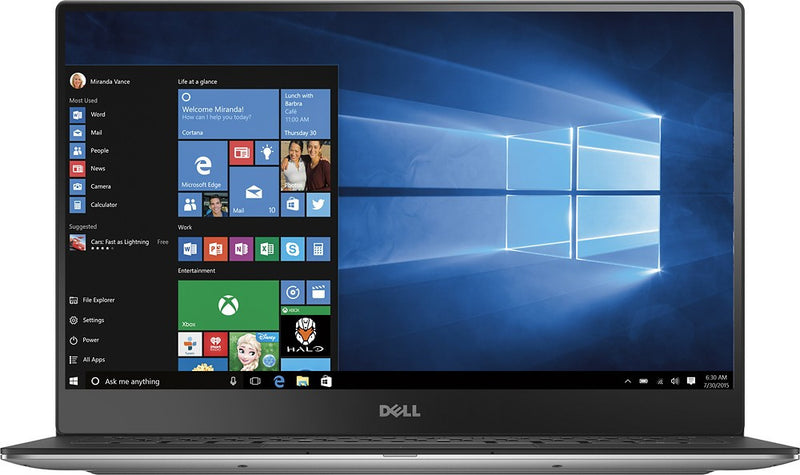 Dell XPS 13 9360 13.3-Inch Laptop QHD Touchscreen i7-7500U 8GB RAM 512GB SSD Windows 10 Home