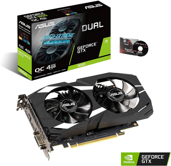 Asus GeForce GTX 1650 Overclocked 4GB Dual Fan Edition Dual-GTX1650-O4G