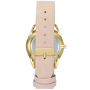 Nine West Women's Gold-Tone and Pastel Pink Strap Watch NW/1994WTPK