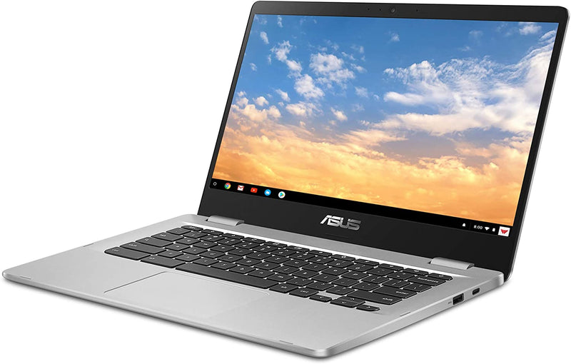 "ASUS Chromebook Laptop 14""HD Intel N3350 4GB RAM 32GB eMMC Chrome OS C423NA-DH02"