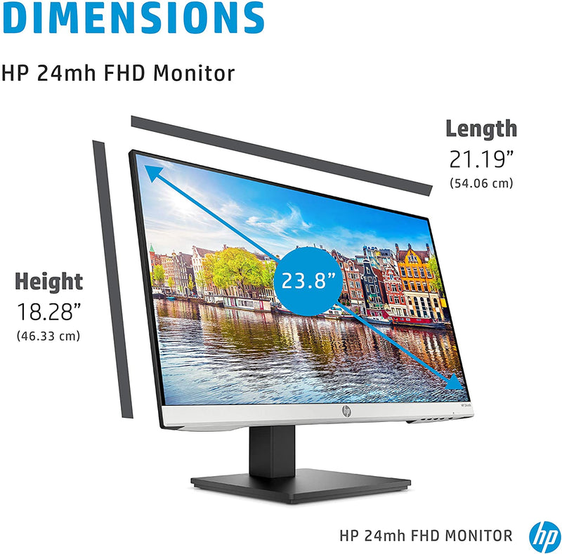HP 24mh 23.8 inch FHD - Speakers and VESA Mounting 1D0J9AA