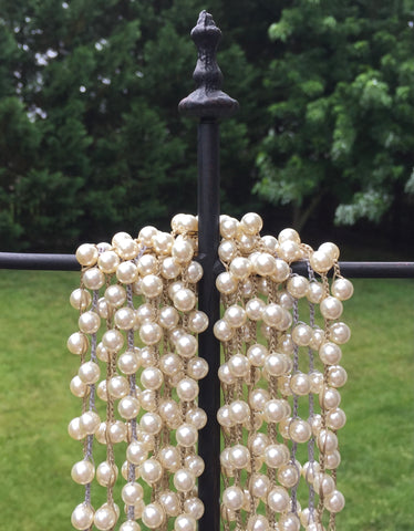 Swarovski cream pearls crochet