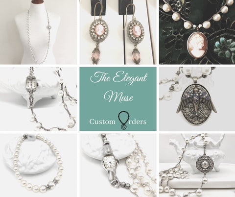 Antique watches and cameos repurposed