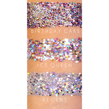 SWATCH COMPARSION WITH STAR GLITTERS