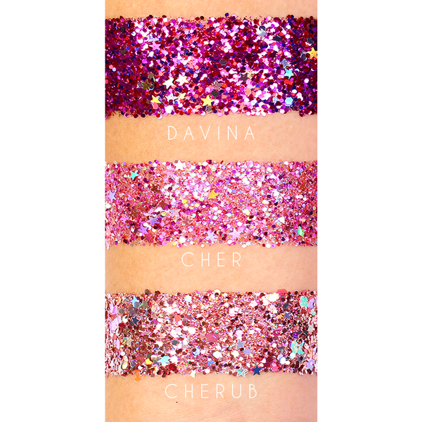 GLITTERS SWATCHES WITH STARS