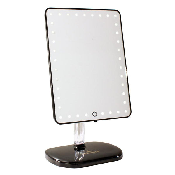 PRO LED MAKEUP MIRROR WITH WIRELESS BLUETOOTH AUDIO+SPEAKERPHONE & USB CHARGER - HEAVEN+HANNAH