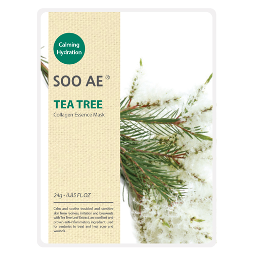 NATURE COLLAGEN ESSENCE TEA TREE SHEET MASK - HEAVEN+HANNAH