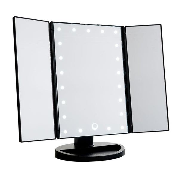 impression vanity TOUCH TRIFOLD DIMMABLE LED MAKEUP MIRROR