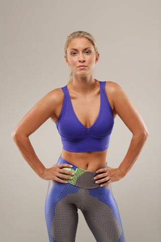High impact-These super supportive tops are not only extremely comfortable, they look great too! Soft fabric that molds to your body and doesn't cut into your shoulders. They have removable padding, and are beautifully cut to lift, flatter and enhance your body. These are the ultimate for all your high fidelity dancing, jumping, running...... fitness needs!