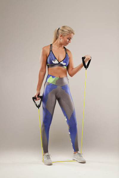 This super cool military inspired print legging is light but still supportive. Great for your high impact fitness or strengthening workout. Silky lycra that hugs your legs for a comfortable fit. The waistband is finished slightly higher, giving support around the waist, back and hips for a flattering smoother finish.