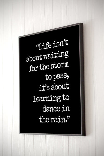 Dance In The Rain Poster or Print