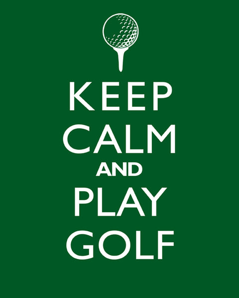 "Man Cave Decor ""Keep Calm And Play Golf"" Print Poster Wall Art Sports"