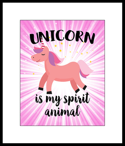 Unicorn Is My Spirit Animal Poster Or Print