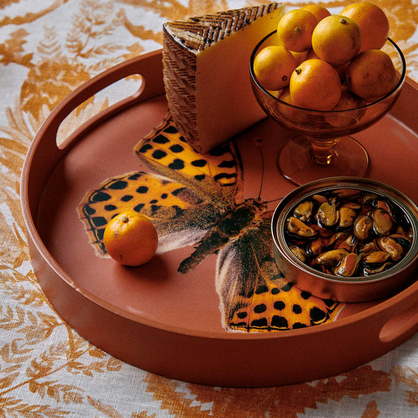 Butterfly Rust Tray