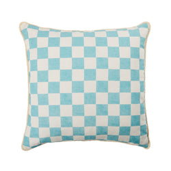 Small Checkers Aqua 50cm