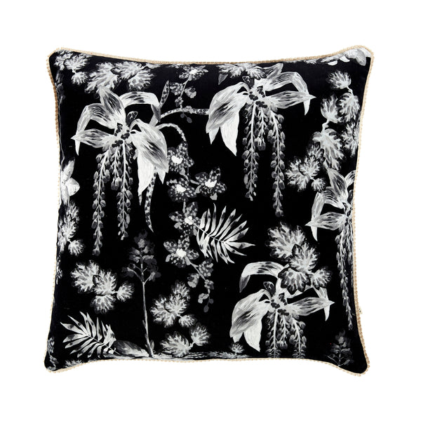 Dancing Lady Orchid Black 60cm Velvet