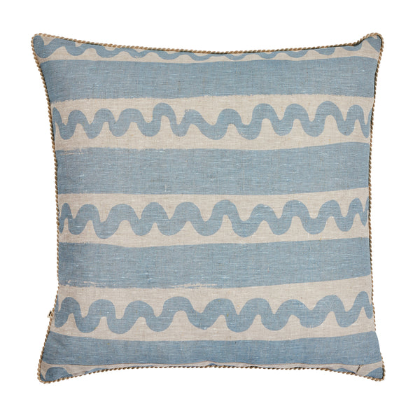 Beach Stripe Light Blue 60cm