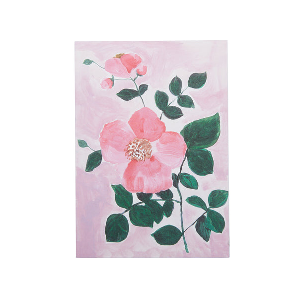 Tea Rose Pink Card