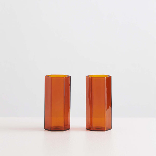 Coucou Tall Glass Set Amber